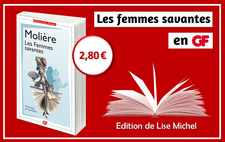 Edition critique des Femmes savantes en GF