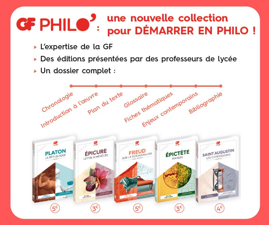 GF Philo' : une nouvelle collection pour démarrer en philo !