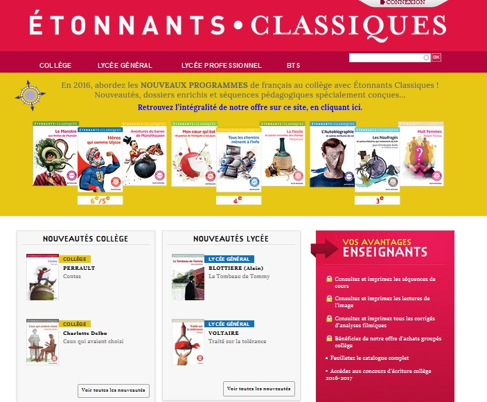 Etonnants classiques - Flammarion
