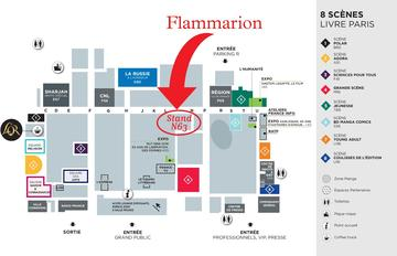Plan du Salon Livre Paris - Stand Flammarion